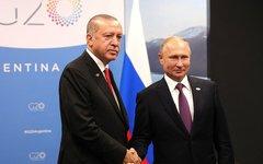Путин и Президент Турции Реджеп Тайип Эрдоган