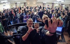 Swanky Tunes в московском метро. Фото предоставлено пресс-службой AFP