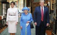 Мелания Трамп, Елизавета II, Дональд Трамп. Фото с офстраницы в Facebook