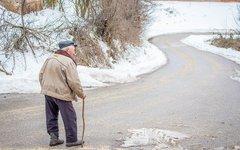 Пенсионер на прогулке