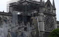 Собор Парижской Богоматери после пожара 2019
