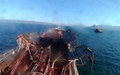 """Взрыв на танкере """"Залив Америка"""""""