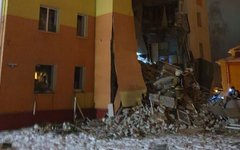Обрушение стены жилого дома под Белгородом