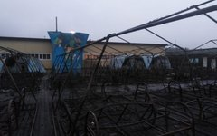 Детский палаточный городок после пожара