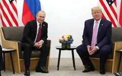 Беседа с президентом США Дональдом Трампом © KM.RU, Пресс-служба Кремля