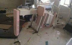 Последствия взрыва в городе Калат (Афганистан)