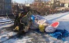 Фигура мыши стоимостью 677 тыс.рублей была сломана дрифтером в середине декабря