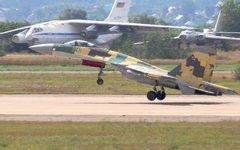 Взлет истребителя Су-35 © KM.RU, Илья Шабардин