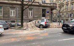 Последствия землетрясения в Загребе