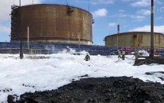 Разлив дизельного топлива в Норильске