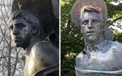 Памятнику на могиле Высоцкого поменяли голову