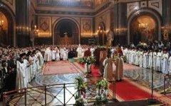 Литургия в храме Христа Спасителя в Москве
