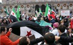 Демонстрация в Сирии. Фото пользователя «Твиттер» @farGar