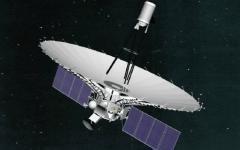 Общий вид аппарата «Спектр-Р» на орбите. Фото Роскосмос