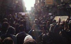 Сирийские демонстранты. Фото пользователей Twitter