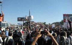 Демонстрация в Йемене, фото пользователя твиттер @NasserMaweri