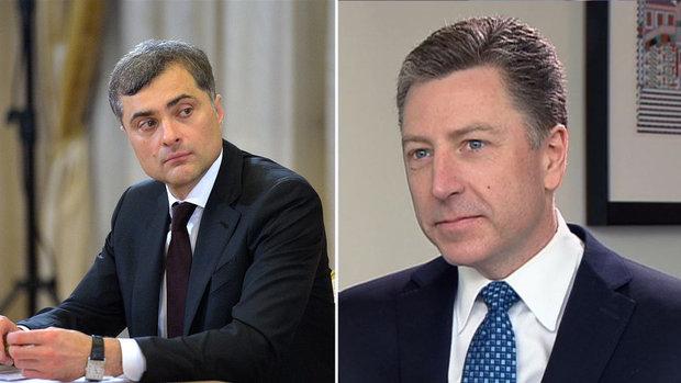 Владислав Сурков оценил как конструктивные переговоры соспецпредставителем США поДонбассу