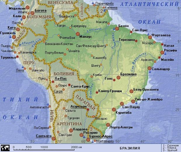 Бразилия - Travel.Ru: Страны - Бразилия: погода, визы ...