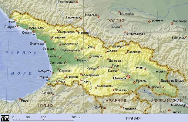 Побережье Черного моря: карта с городами и странами