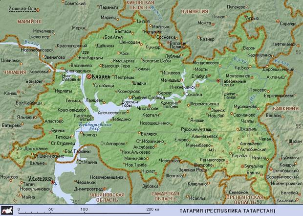 Татария (географическая карта)