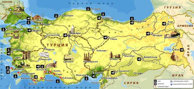 карта турции в 19 веке