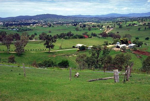 Австралия вид сельской местности