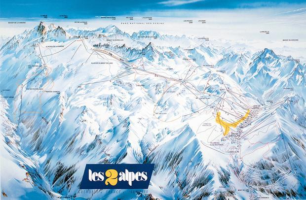 Схема горнолыжных трасс в