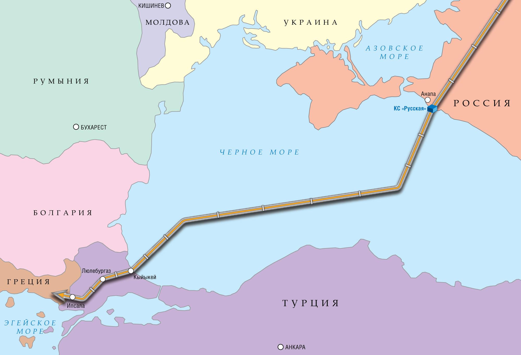 схема нефтепровода в европу